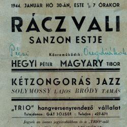 Rácz Vali sanzonestje 1944