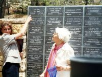Vali Racz and her daugther Monica Porter in Yad Vashem