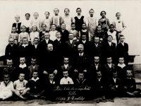 Rácz Ferenc tanítványaival